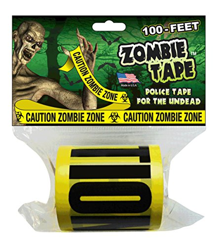 Zombie Tape - CAUTION ZOMBIE ZONE - 100 Feet!]()