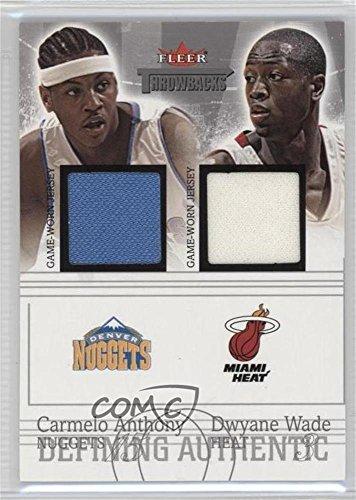 Carmelo Anthony; Dwyane Wade #86/99 (Basketball Card) 2004-05 Fleer Throwbacks - Defining Authentic - Silver Jerseys Dual #DAD-CA/DW ()