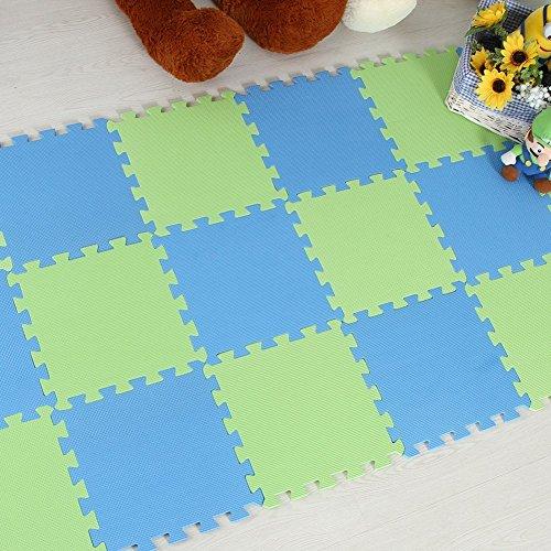 Menu Life 10-tile Green & Blue Exercise Mat Soft Foam EVA...