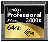 Lexar Professional 3400x 64GB CFast 2.0 Card (Up to 510MB/s Read) w/Image Rescue 5 Software LC64GCRBNA3400