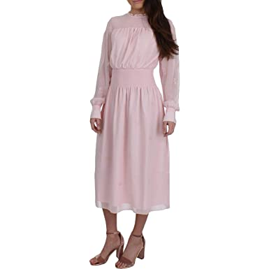 db4976801b510 Amazon.com  Juicy Couture Women s Smocked Embroidered Georgette Midi Dress   Clothing