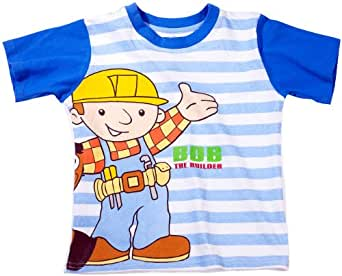 Shortama enfant pyjama bob the builder blanc/bleu 110