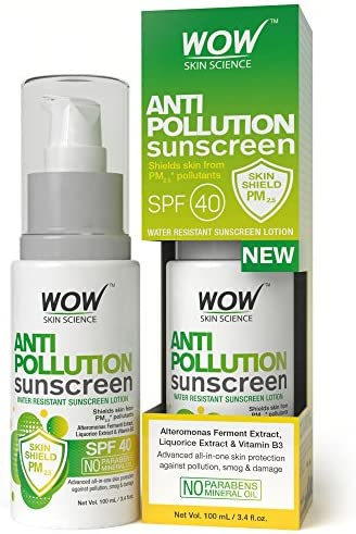 545368e479 WOW Anti Pollution SPF40 Water Resistant No Parabens   Mineral Oil  Sunscreen Lotion