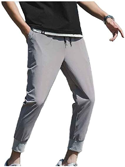 Tootess Mens Summer Plus Size Loose-Fit Slim-Tapered Relaxed-Fit Pant