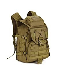 Wowelife 40L Tactical Backpack Military Molle Gear Rucksack Hiking Daypacks,Large Waterproof Army Bag for Hunting Camping Trekking and Outdoors