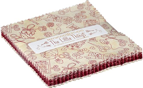 Robin Kingsley The Little Things Charm Pack 42 5-inch Squares Maywood (Honey Bee Craft Scissors)