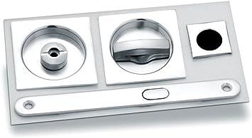 Kit para puertas correderas Scrigno Mod. Cuadrado cromo Sat.: Amazon.es: Bricolaje y herramientas