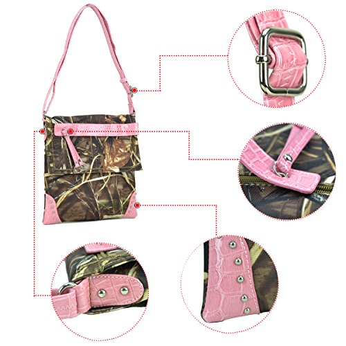 W Camouflage in Bag Rt1500670 Purses Crossbody Camo Coffee Handbag Messenger Trim Coffee Bag Camo Dasein Realtree fOqdwtt
