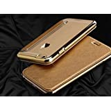 """Moca® For iPhone 6, iPhone 6s 4.7"""" Case [GOLD] Premium Leather [Wallet] Flip With Soft TPU [TransParent] Chrome Back Case Flip Case Cover For Apple iPhone 6 iPhone 6s Leather Flip Cover Case Wallet Case"""