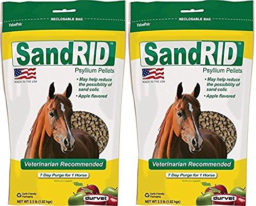 (2 Pack) Equine Sandrid Psyllium Pellets Value Pack for Equine, 2.3 lb by Durvet