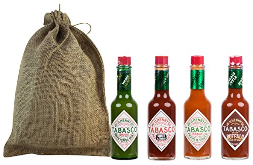 Tabasco Sauce Variety Assortment Pack Gift Set (Original, Jalapeno, Sweet Spicy, Buffalo)