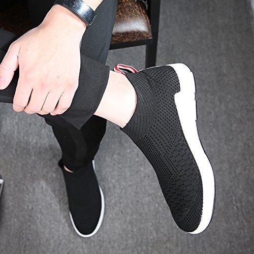 No.66 Uomo Donna Casual Da Passeggio Scarpe Da Corsa Amanti Della Moda Sneaker Nero