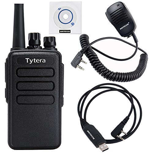 2 Pack NKTECH USB Programming Cable & Remote Speaker Mic & TYT TC-3000B 4W 16CH UHF 400-520MHz Multi-functional Side-key Scan VOX Two Way Radio by NKTECH