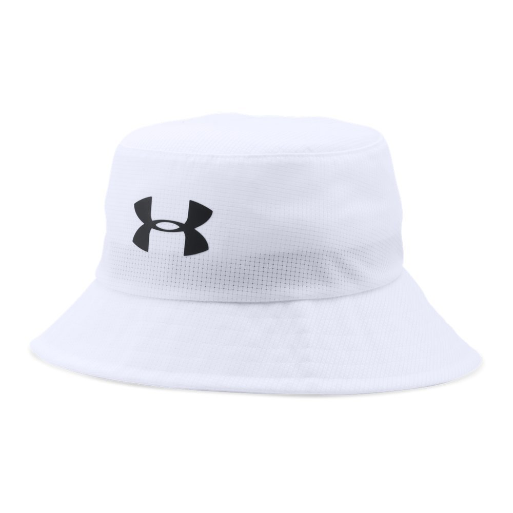 Under Armour Men's Storm Golf Bucket Hat, White (100)/Black, Large