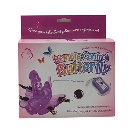 Ouneed Las mujeres con masturbación suministros adultos juguete del sexo de la mariposa Púrpura