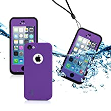GEARONIC TM New 2016 Newest Durable Waterproof Shockproof Dirt Snow Proof Case Cover For iPhone SE 5 5C 5S - Purple