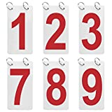 GOGO 12 Sets Double Sides 0-9 Number Cards, Score Reporter