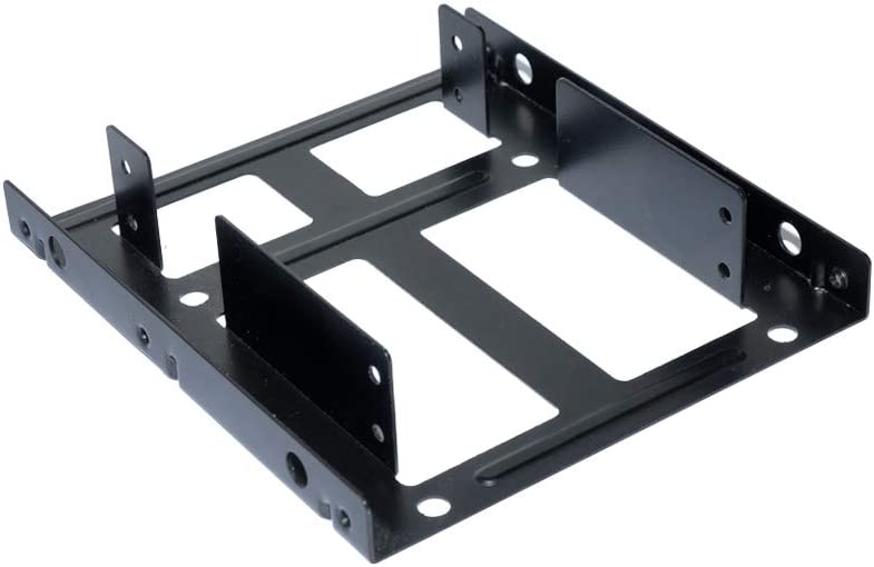 "Dual SSD Mounting Bracket Kit 2.5"" to 3.5"" Drive Bay, HDD SSD Bracket Converts 2.5"" Hard Drive to 3.5"" Desktop Hard Drive Bay Mounting Bracket Adapter"
