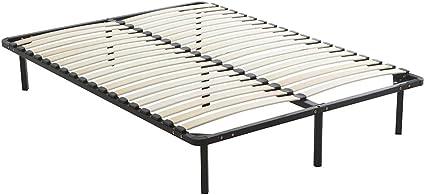 DEWINNER - Somier de láminas sobre patas, 7 patas incluidas, cama (140 x 190 cm)