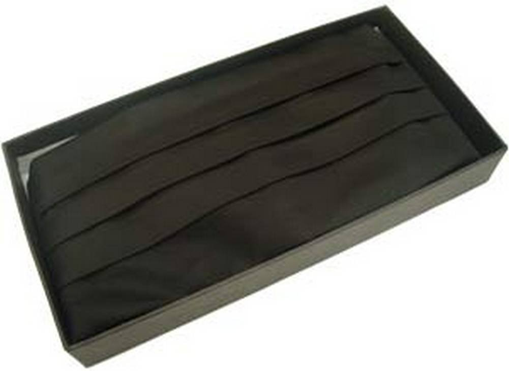 Black Silk Cummerbund by Michelsons