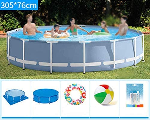 フレームのプール、フレームのプールの床の敷物、大きいブラケットのプールの移動式屋外の強く、耐久の、容易な取付け305 * 76Cm