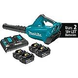 Makita XBU02PT1 Lithium-Ion Brushless Cordless Blower Kit with 4 Batteries