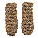 Hot Handle Holders for Cast Iron Skillets - Handmade From Natural Jute - Set of 2 - USA Made