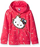 Image of Hello Kitty Big Girls' Zip up Hoodie with Sequin Applique, Red, 12