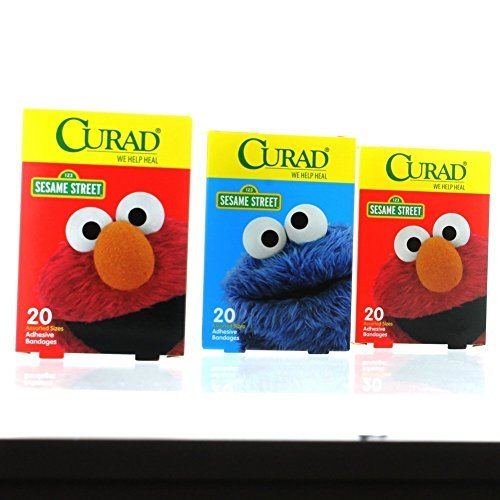 Curad Sesame Street Adhesive Bandages Assorted Sizes 60 c...