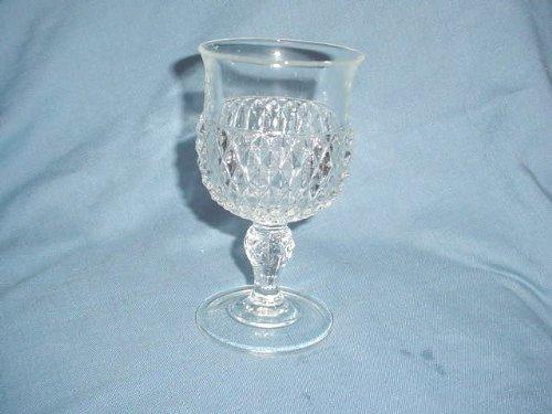 Diamond Point Glass Goblet - Diamond Point Crystal Glass Indiana