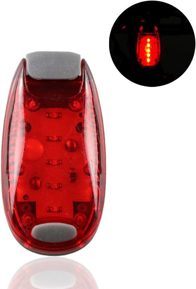 Super Lumineux Clip De Lumi/ère De Queue De V/éLo /à Piles Sur La Lumi/ère De Casque De Bras Coureurs Compagnie Bateaux Voyant DAvertissement Avec Autocollant Rouge HEITIGN Lumi/ère De S/écurit/é /à LED