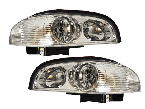 Headlights Depot Replacement for Buick Park Avenue Headlight OE Style Replacement Headlamp Driver/Passenger (Buick Park Avenue Headlight Drivers)