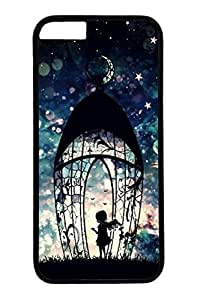 Angel Girl Slim Hard Cover Case For Samsung Galaxy S5 Cover PC Black Cases