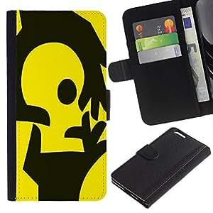 Stuss Case / Funda Carcasa PU de Cuero - Manos amarillas - Apple Iphone 6 PLUS 5.5