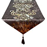 New Hot Stamping Contracted Classic Table Runner 13x70inch (13*70 inch, Coffee)