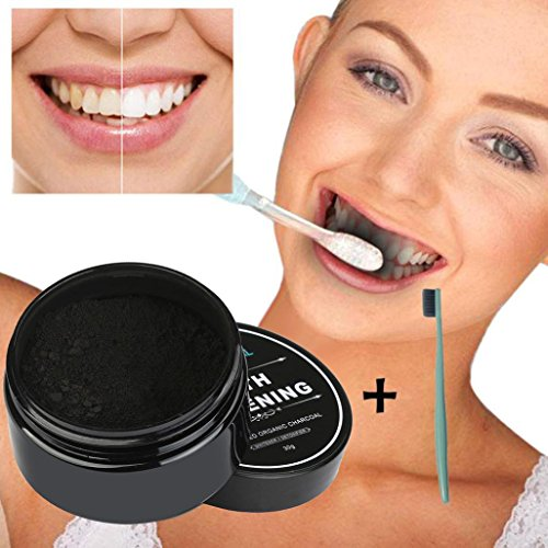 Baomabao Natural Organic Activated Teeth Whitening Powder Charcoal Bamboo - Balls Toothpaste
