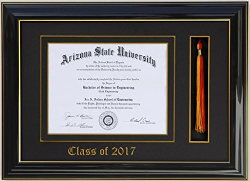 Diploma Tassel frame 8x6 Black/Black 2017 (Customizable)
