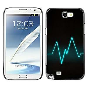 // PHONE CASE GIFT // Duro Estuche protector PC Cáscara Plástico Carcasa Funda Hard Protective Case for Samsung Note 2 N7100 / Blue Beat /