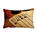 DIYthinker Old Poker Chip Photo Throw Lumbar Pillow Insert Cushion Cover Home Sofa Decor Gift