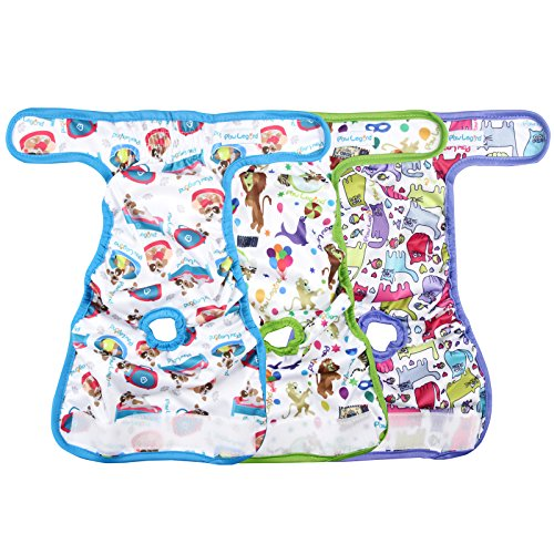 Image of Paw Legend Reusable Female Dog Diapers(3 PACK,Adorable,X-Small)