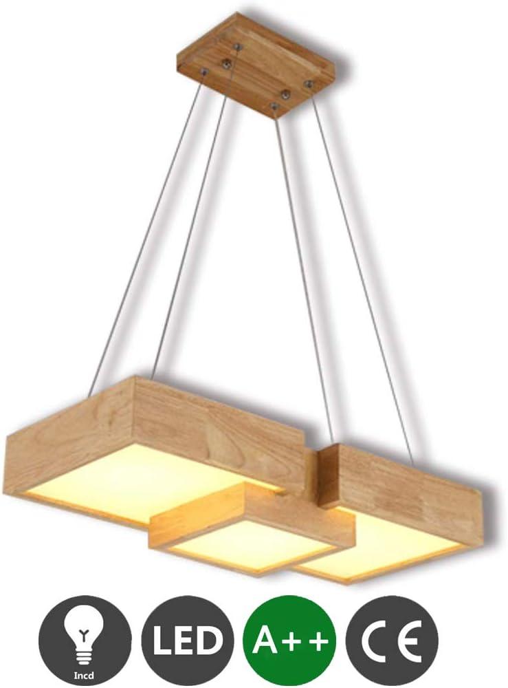 LED lámpara de madera colgante comedor moderna lámpara de madera de la lámpara de pared de la altura ajustable de la luz de la cocina iluminación ligera luz de oficina café luz