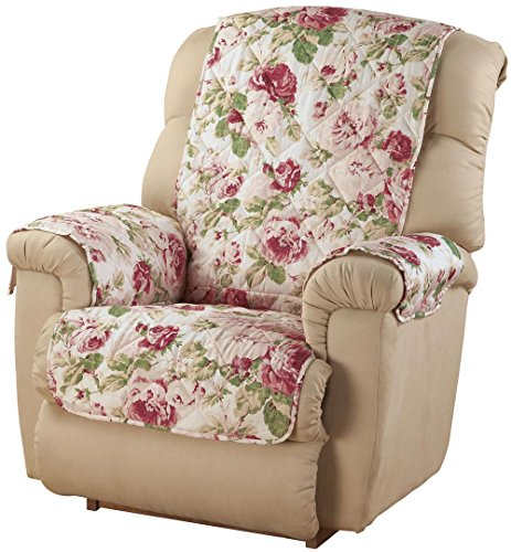 - Innovative Textile Solutions 9143RECWB English Floral Recliner or Wing Chair Protector, Pink