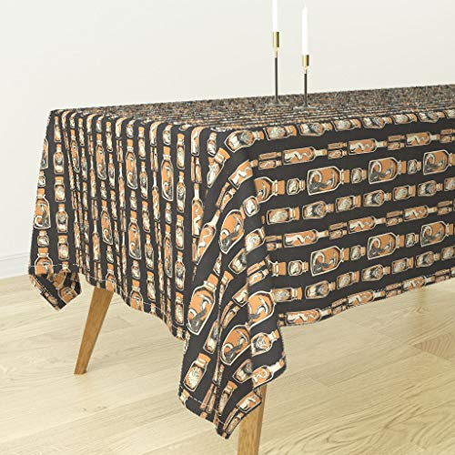 Roostery Tablecloth - Taxidermy Wet Specimen Specimen Jars Spooky Halloween Curiosities by Derek Quinlan - Cotton Sateen Tablecloth 70 x -