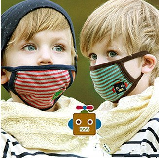 Famixyal 2 Pcs Lovely Cartoon Bear/Rabbit/Robot Student Child's Face Mask Dust Mask Anti-fog Anti-dust Mask Earloop Face Mask Filters Bacteria Protection Free Soft and Light Kids Gift (Random Color) - Rabbit Dust