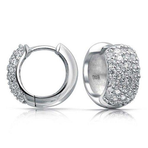 Bling Jewelry Zirconia Silver Earrings