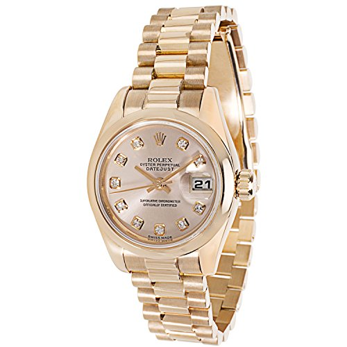 Rolex Oyster Perpetual 179165 Women's Watch in 18K Rose Gold Undo (Certified Pre-owned)