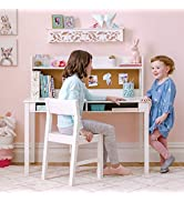 Martha Stewart Living and Learning Kids' Desk with Hutch and Chair - White (Ages 5-12 Years) Chil...
