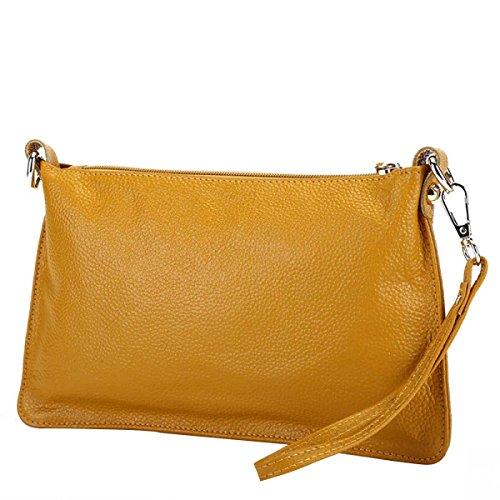 Hand Hand Casual Women's Leather Bag Bag Messenger Simple Yellow Bag Bag 6wTqI8