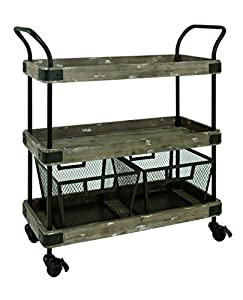 HAKU Furniture 27909 trolley blackvintage W 86 x D 34 x H 96