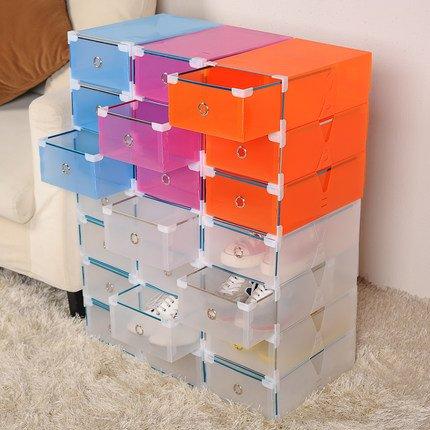 Merveilleux 5PCS/set Thickened Flip Shoes Transparent Drawer Case Plastic Shoe Boxes  Stackable Box Storage Box